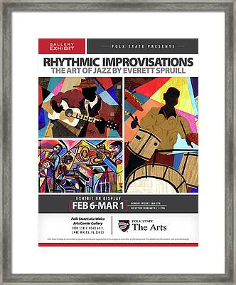 Rhythmic Improvisations - The Art Of Jazz Framed Print
