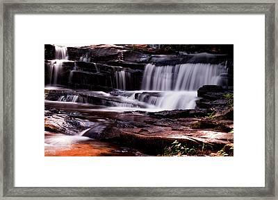 Lake Waterfall Framed Print