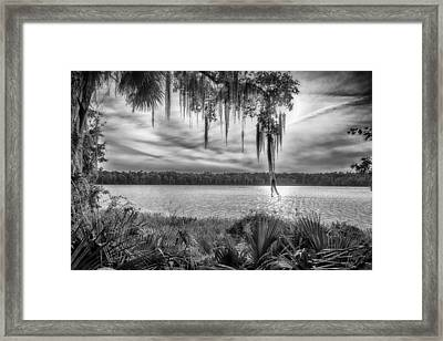 Framed Print featuring the photograph Lake Wauberg   by Howard Salmon