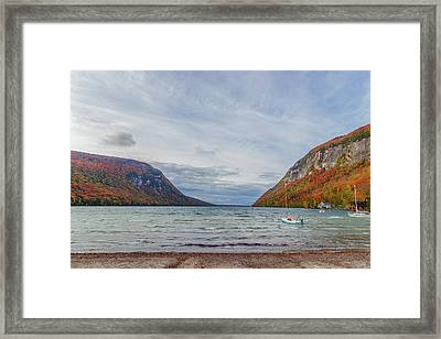 Lake Willoughby Blustery Fall Day Framed Print by Tim Kirchoff