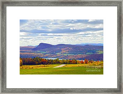 Lake Willoughby In Autumn Framed Print by Catherine Sherman