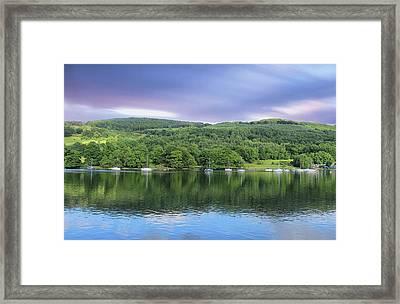 Lake Windermere Reflection Framed Print