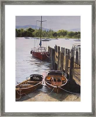 Lake Windermere Framed Print by Victoria Heryet