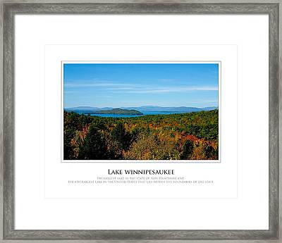 Lake Winnipesaukee - Fall Framed Print by Jim McDonald Photography
