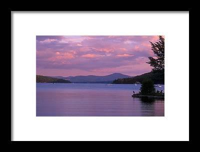 Lake Winnipesaukee Framed Prints