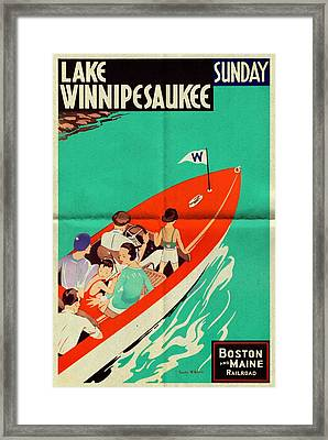Lake Winnipesaukee - Folded Framed Print