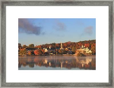 Lake Winnipesaukee Meredith Autumn Morning Framed Print