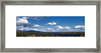 Lake Winnipesaukee New Hampshire In Autumn Framed Print by Stephanie McDowell