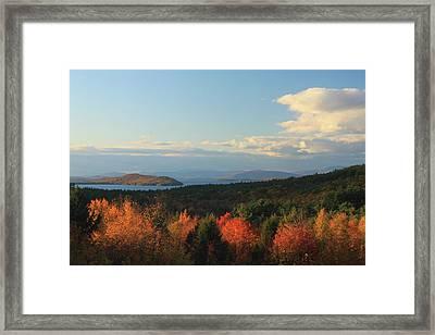 Lake Winnipesaukee Overlook In Autumn Framed Print