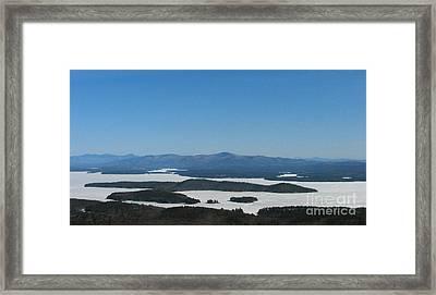 Lake Winnipesaukee View From Mt. Major Framed Print by Michael Mooney