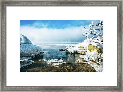 Framed Print featuring the photograph Lake Winnisquam by Robert Clifford