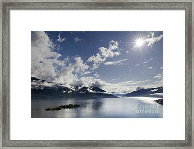 Lake With Islands Framed Print
