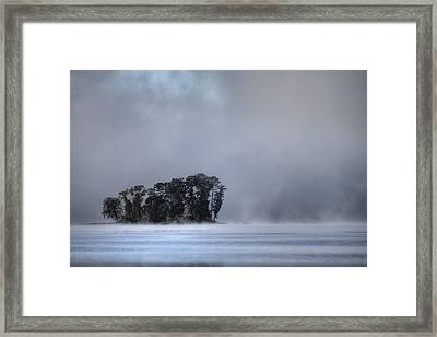 Lake Wylie Foggy Morning Framed Print by Dustin K Ryan