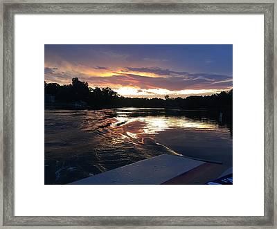 Lake Wylie Sunset Framed Print by Daniel Egge