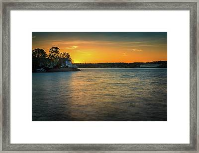 Lake Wylie Sunset Framed Print by Michael Svach
