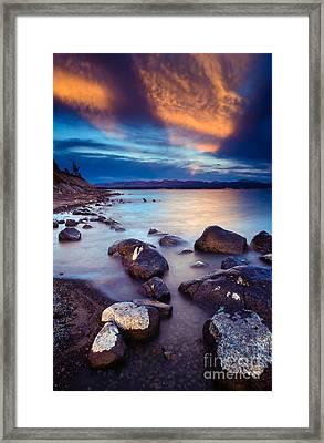 Lake Yellowstone Framed Print by Inge Johnsson