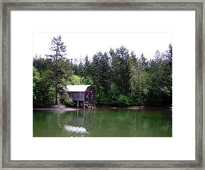 Lakebay Green Water  Framed Print by Valerie Josi
