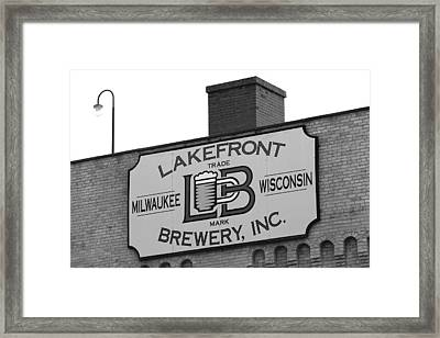Lakefront Brewery Framed Print by Sarah Stollberg