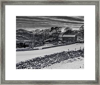Framed Print featuring the photograph Lakeland Barn by Keith Elliott