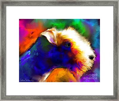 Lakeland Terrier Dog Painting Print Framed Print by Svetlana Novikova