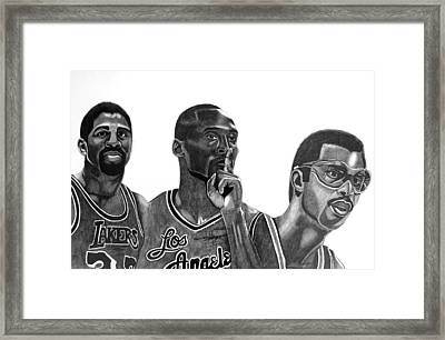 Laker Greats Framed Print