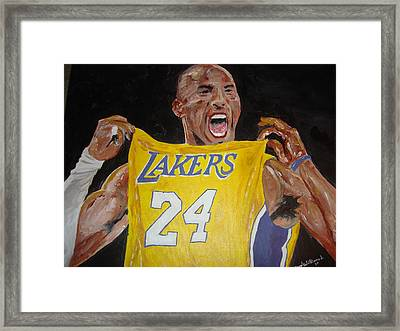 Lakers 24 Framed Print by Daryl Williams Jr
