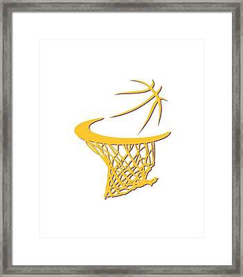 Lakers Basketball Hoop Framed Print by Joe Hamilton