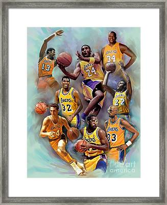 Lakers Legends Framed Print by Blackwater Studio