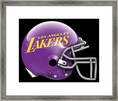 Lakers What If Its Football Framed Print by Joe Hamilton