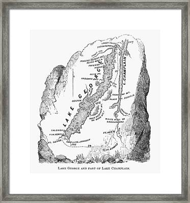 Lakes George And Champlain Framed Print by Granger