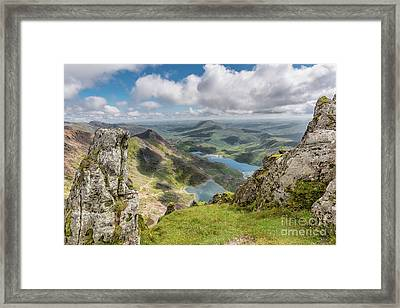 Lakes Of Snowdonia Framed Print by Adrian Evans