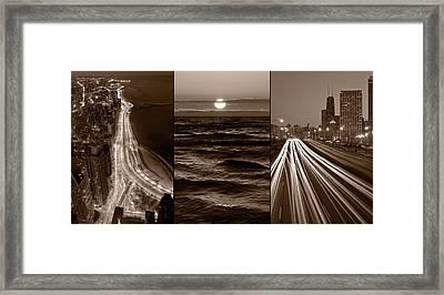 Lakeshore Chicago Framed Print by Steve Gadomski