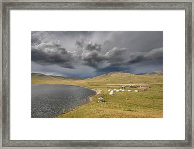 Lakeside Camp, Khorgo, 2016 Framed Print by Hitendra SINKAR