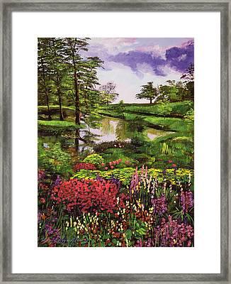 Lakeside Garden Framed Print
