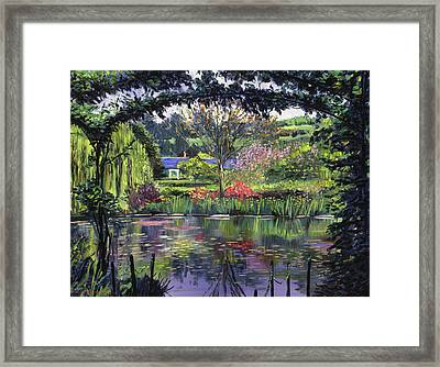 Lakeside Giverny Framed Print by David Lloyd Glover
