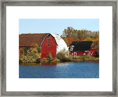 Lakeside Michigan Farm Framed Print by Scott Hovind