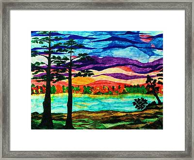Lakeside Morning Awe Framed Print by Jeanette Stewart