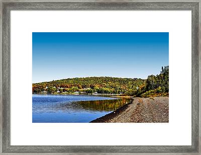 Lakeside Portage Framed Print by Gary Smith