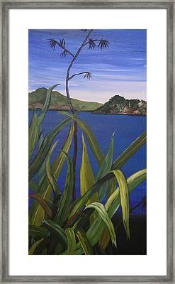 Lakeside Framed Print by Sher Green