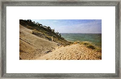 Framed Print featuring the photograph Laketown Dune Panorama by Michelle Calkins