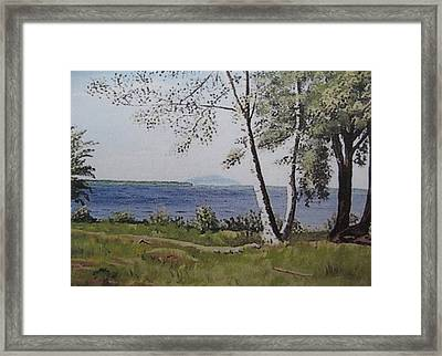 Lakeview Landing Framed Print