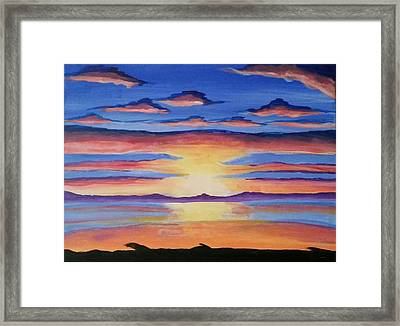 Lakeview Sunset Framed Print by Carol Duarte