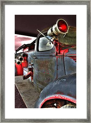 Lakewood Mountair Fire Dept.  Framed Print by Kevin Munro