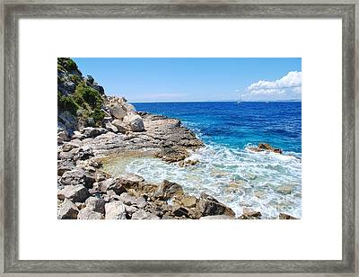 Lakka Coastline On Paxos Framed Print