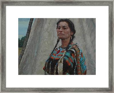 Lakota Pride Framed Print by Jim Clements