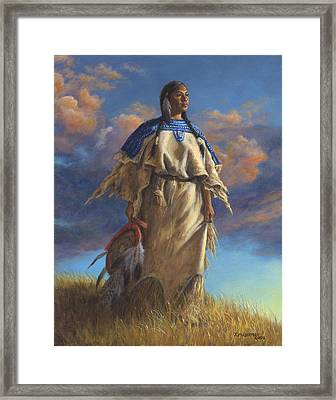 Lakota Woman Framed Print by Kim Lockman