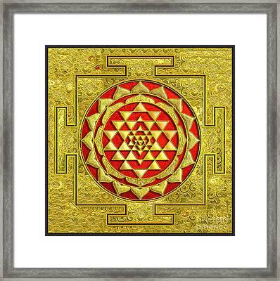 Lakshmi Kubera Yantra Framed Print