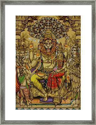 Lakshmi Narasimha Prahlad  Framed Print