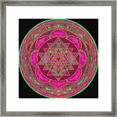 Lakshmi Yantra Mandala Framed Print By Svahha Devi