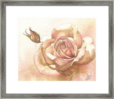 Lalique Rose Framed Print